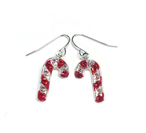 Candy Cane Earrings - Christmas Earrings
