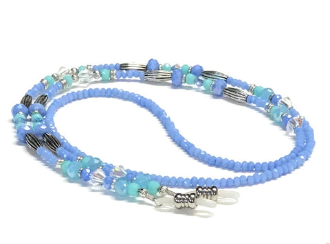 Eyeglass Chain - Periwinkle Blue and Pastels