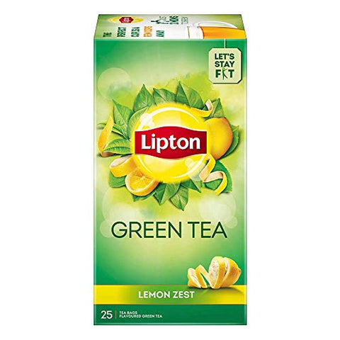 LIPTON LEMON ZEST GREEN TEA