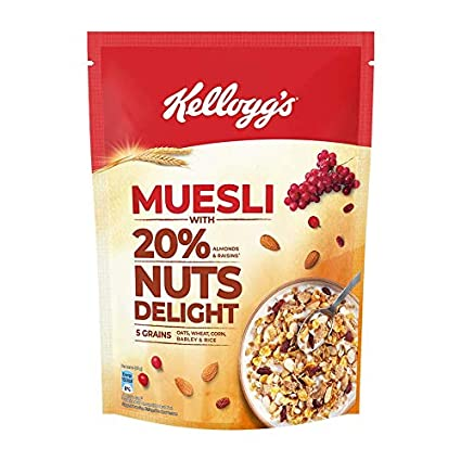 KELLOGG'S MUESLI WITH 20% NUTS DELIGHT