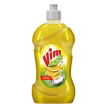 VIM LIQUID WITH POWER OF LEMONS BOTTLE