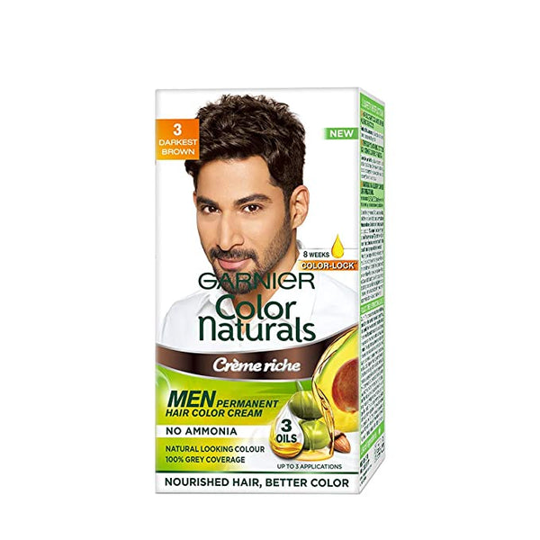 GARNIER COLOR NATURALS CREAM MEN 3 DARKEST BROWN