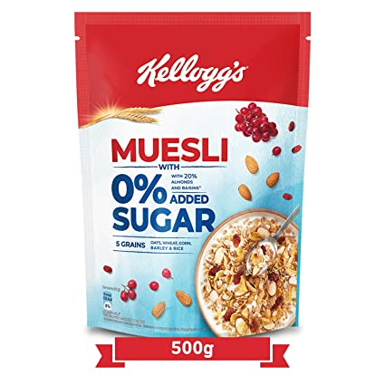 KELLOGG'S MUESLI 0% ADDED SUGAR