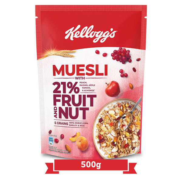 KELLOGG'S MUESLI WITH 21% FRUIT AND NUT