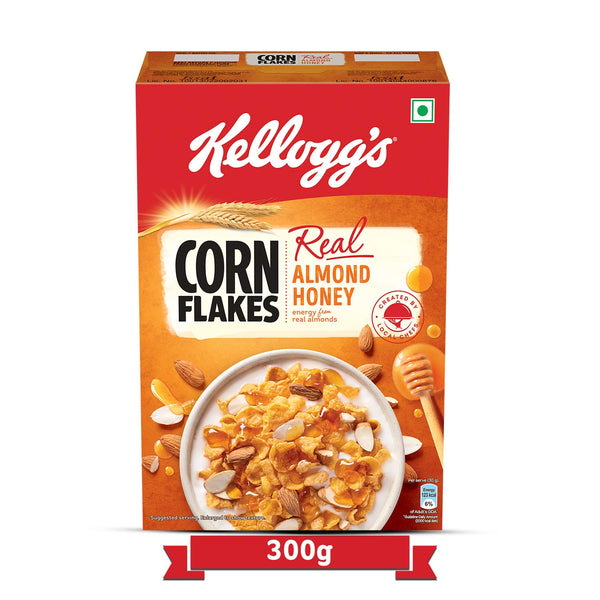 KELLOGG'S CORN FLAKES REAL ALMOND HONEY