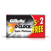 GILLETTE 7 O' CLOCK SUPER PLATINUM BLADES