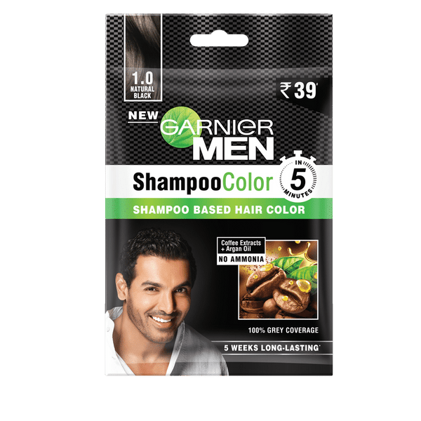 GARNIER MEN SHAMPOO COLOR 1 NATURAL BLACK