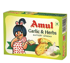 AMUL BUTTER GARLIC&HERB 100 GM