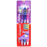 COLGATE ZIGZAG TOOTH BRUSH BUY 2 GET 1 FREE SOFT