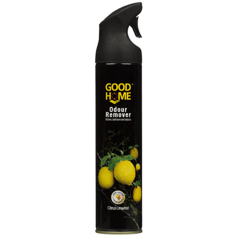GOOD HOME ODOUR REMOVER KITCHEN,BATHROOM& TOBACCO  CITRUS UNWIND