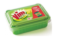 VIM BAR WITH POWER OF LEMONS BOX WITH SCRUBBER