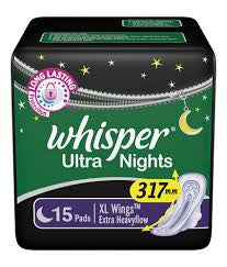 WHISPER  MAXI NIGHTS XL 15 PADS