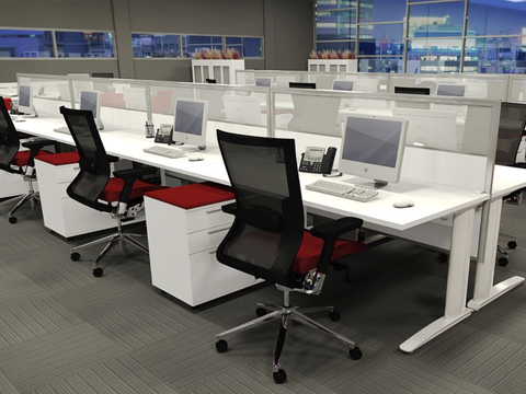 CADE 6 person Straight desk system
