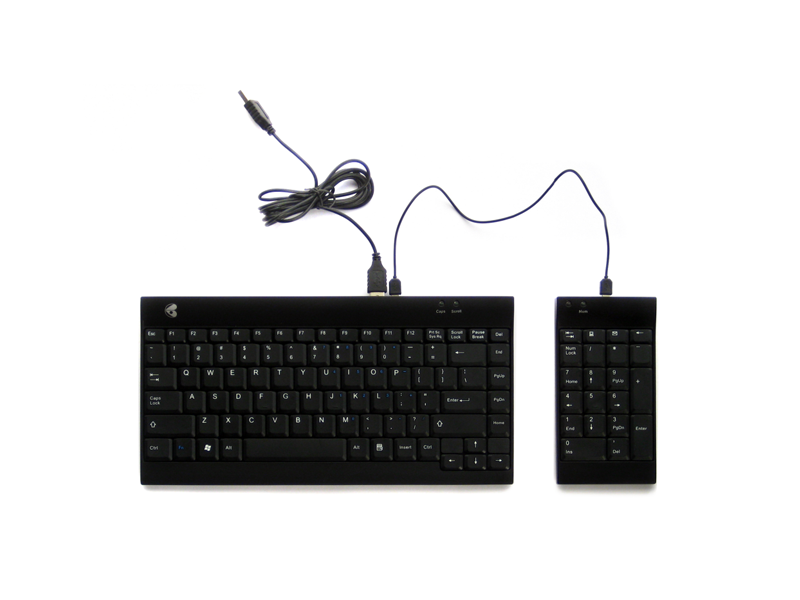 ERGOTIGHT Black Compact Keyboard Wired