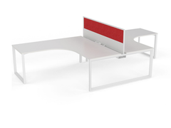 OVO 2 person L Shaped desk system