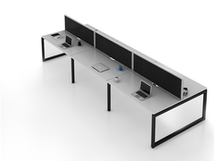 OVO 6 person Straight desk system