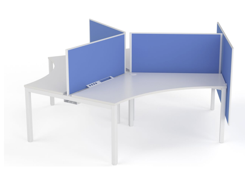 XENO 1,3 & 6 person 120-Degree desk system