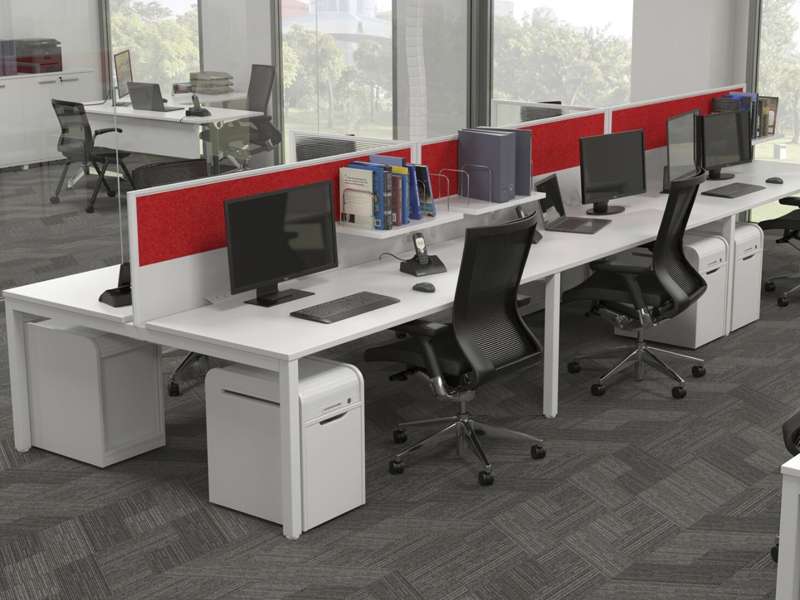 XENO 6 person Straight desk system