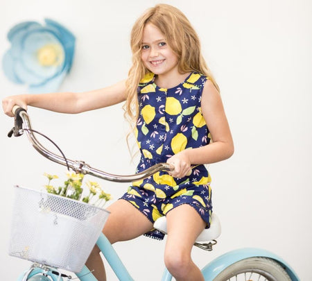 oobi clothing girls summer playsuit in navy
