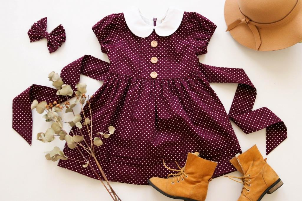vintage-inspired girls and toddler dress poppy harper the label aubergine
