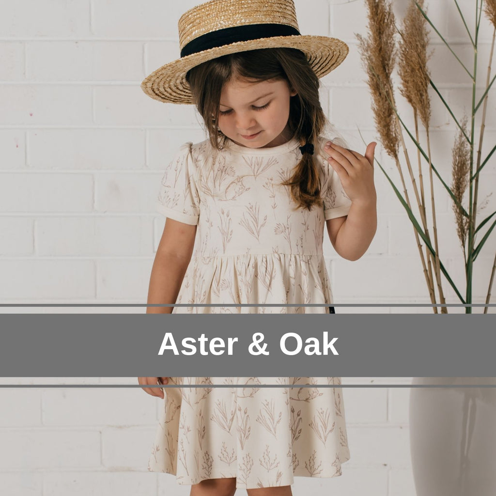 Aster & Oak organic girls and babywear in Australia