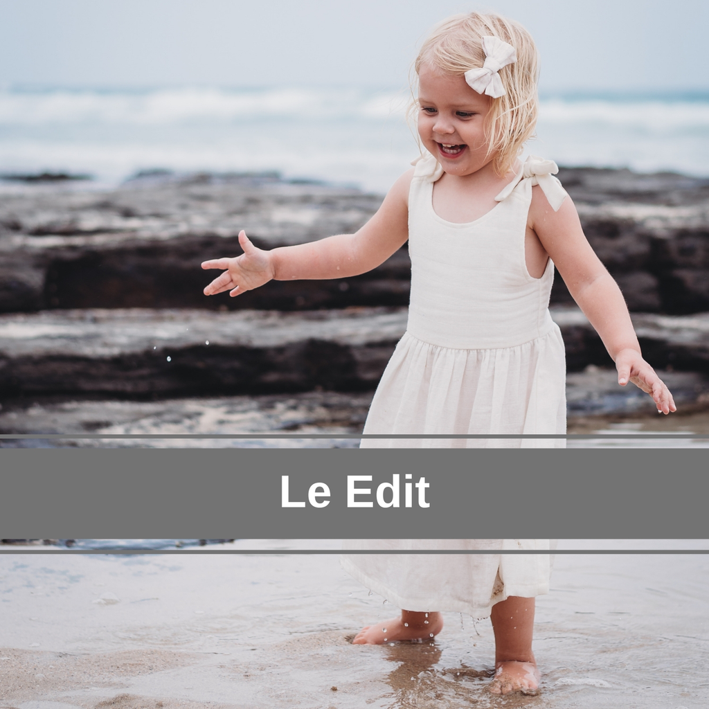 Le Edit organic girls and baby clothing natural and botanically dyed