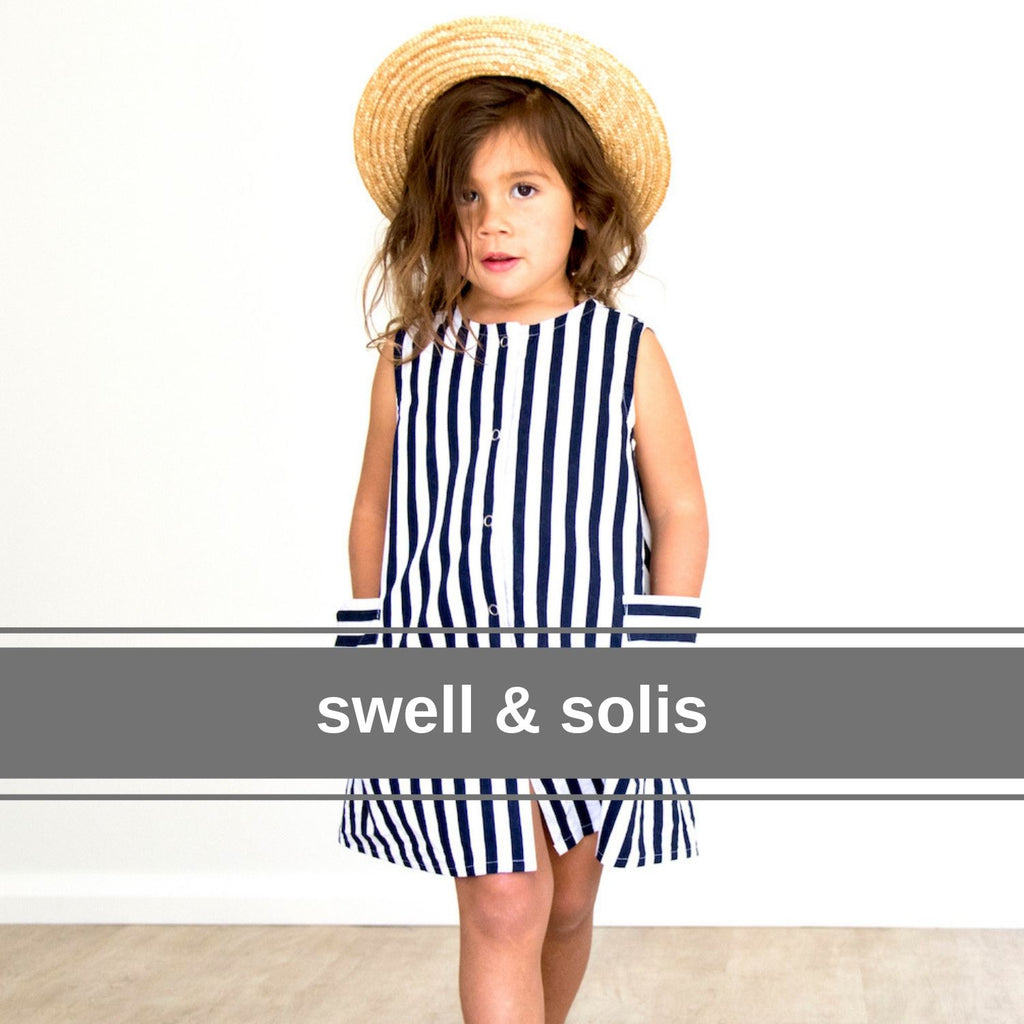 swell and solis blue sailor stripe dress