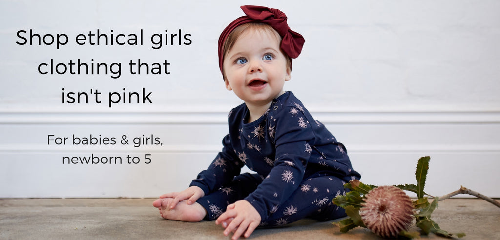 shop ethical clothing for baby girls that isn't pink