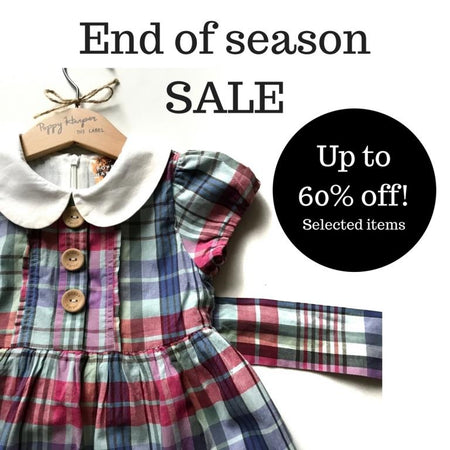 ethical organic baby kids clothes end of season sale pretty without pink