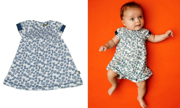 baby girl clothes kidscase blue organic cotton bubble dress