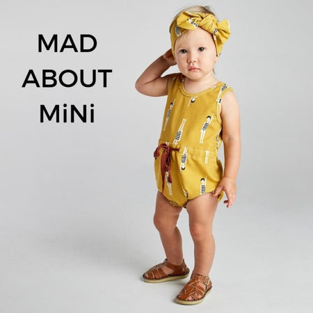 mad about mini girls and toddler clothing mustard bather girl romper