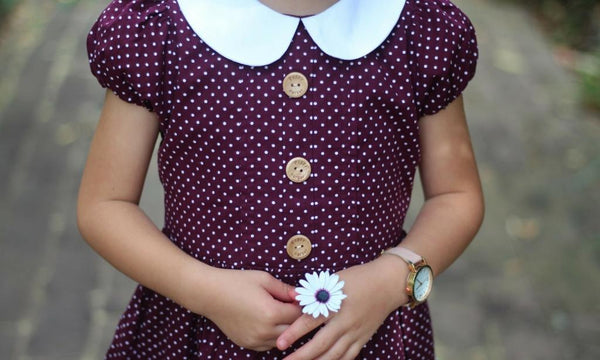 cute girls dress aubergine poppy harper the label