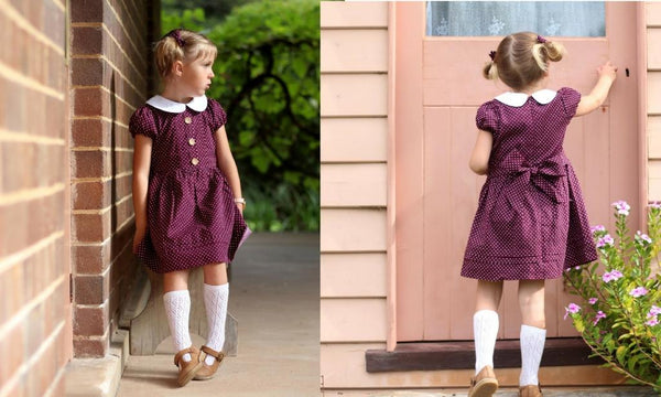 maroon aubergine girls party dress poppy harper the label