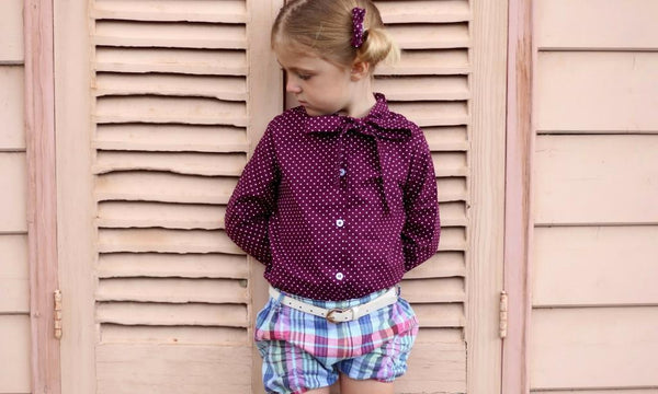 girls blouse and shorts toddler outfit poppy harper the label