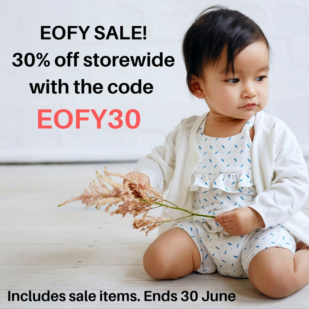 end of financial year sale. discounted girls and baby clothing