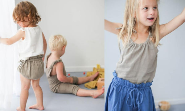 le edit organic baby bloomers ava skirt and marni singlet