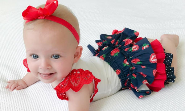 poppy harper the label strawberry rufflebums handmade insta brands baby clothing