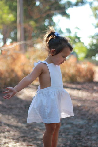white girls pinafore ruffle shoulders swell & solis