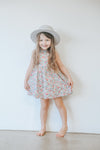 PRE-ORDER Two Darlings Girls & Toddler 'Tillie' Bib Dress - Floral