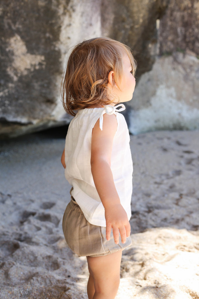 le edit white muslin cotton singlet