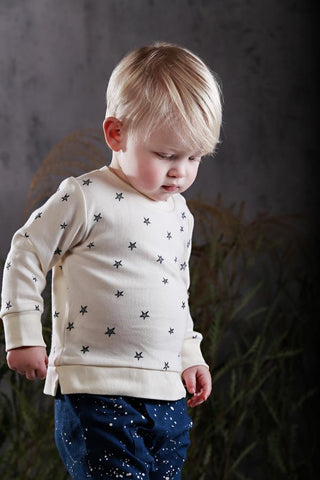 White organic cotton girls jumper anarkid