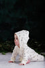 white hooded organic cotton baby toddler romper