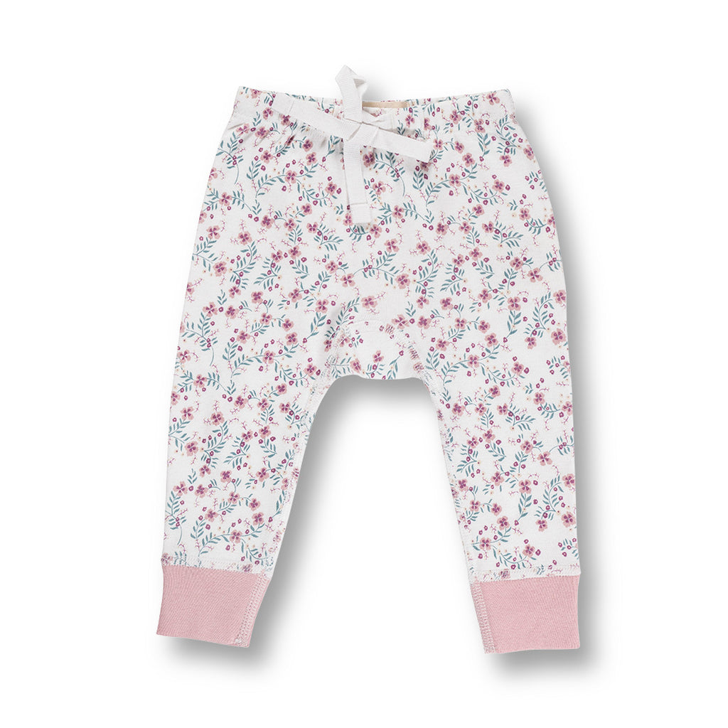 sapling child organic floral baby pants