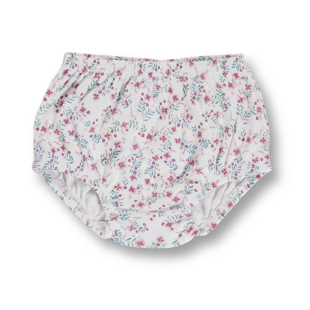 sapling child organic floral baby bloomers