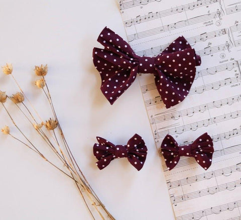 Poppy Harper The Label - Aubergine Bow