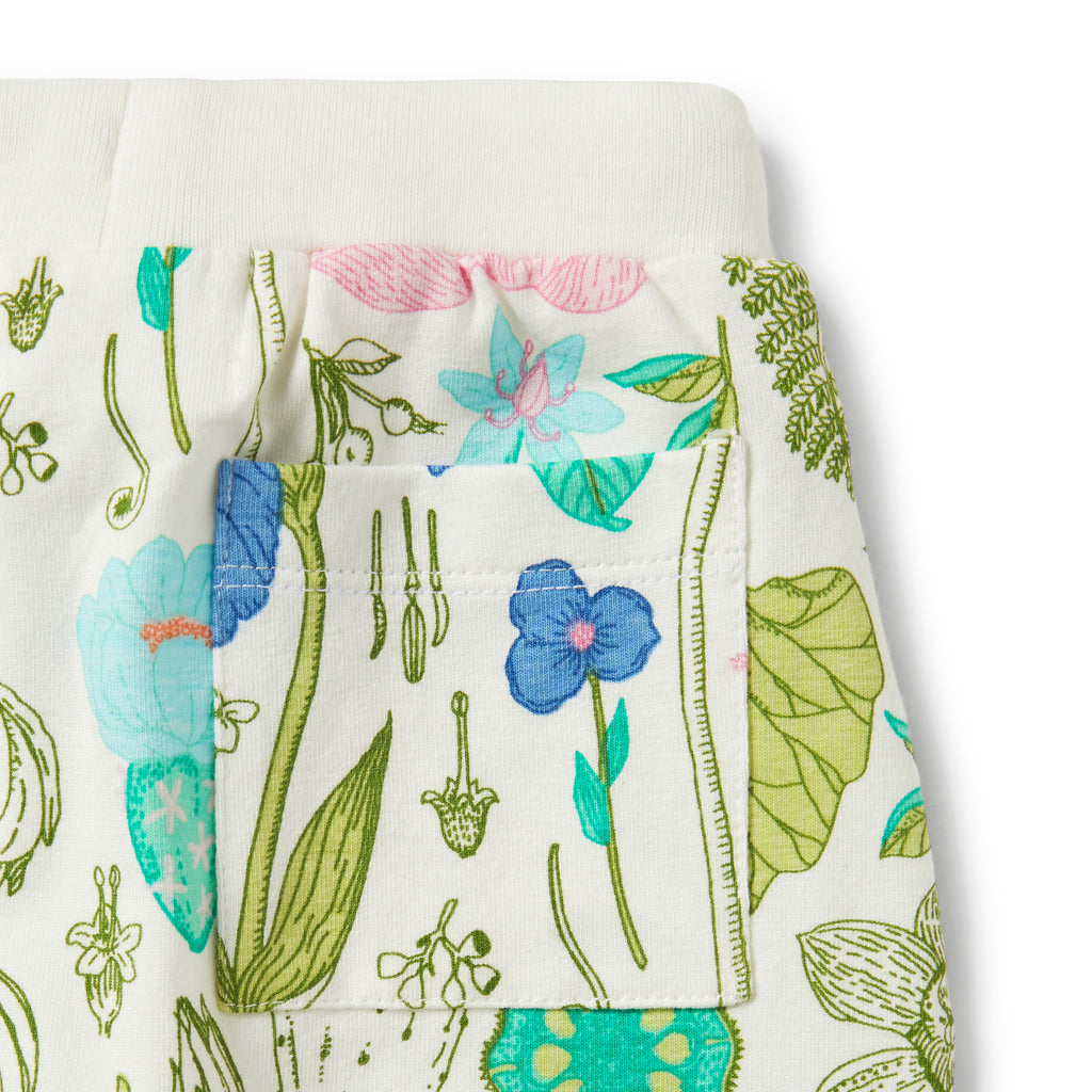 floral wilson & frenchy baby pants with back pocket