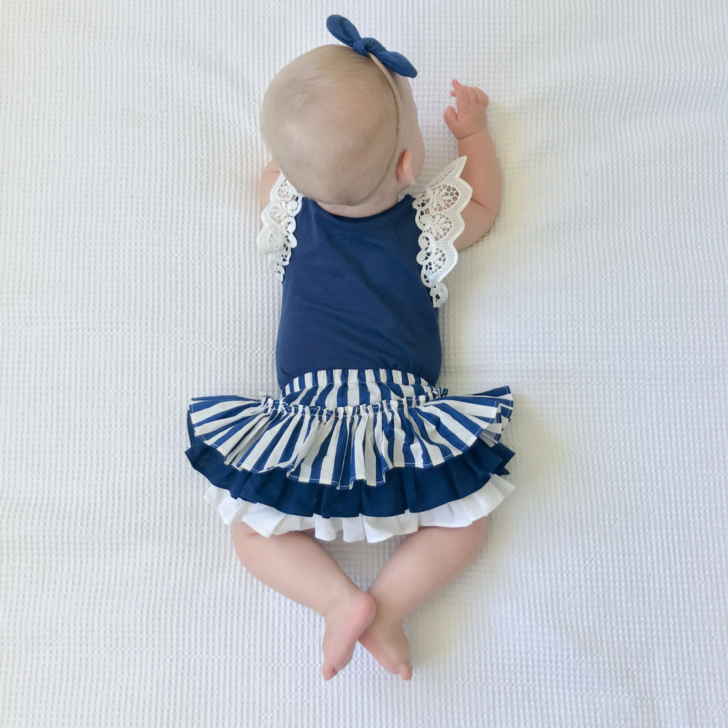 cute baby clothes navy clothing for girls Poppy Harper The Label