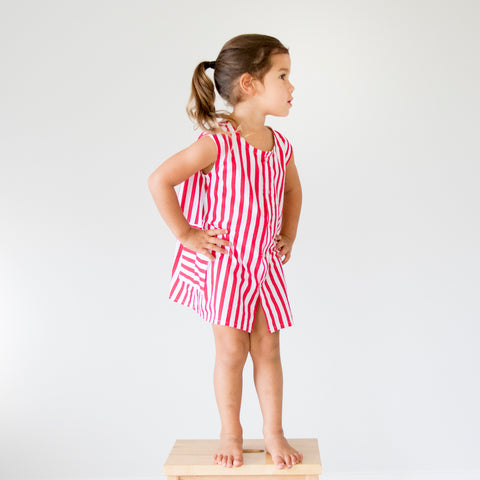 swell & solis promenade nautical red stripe girls summer dress