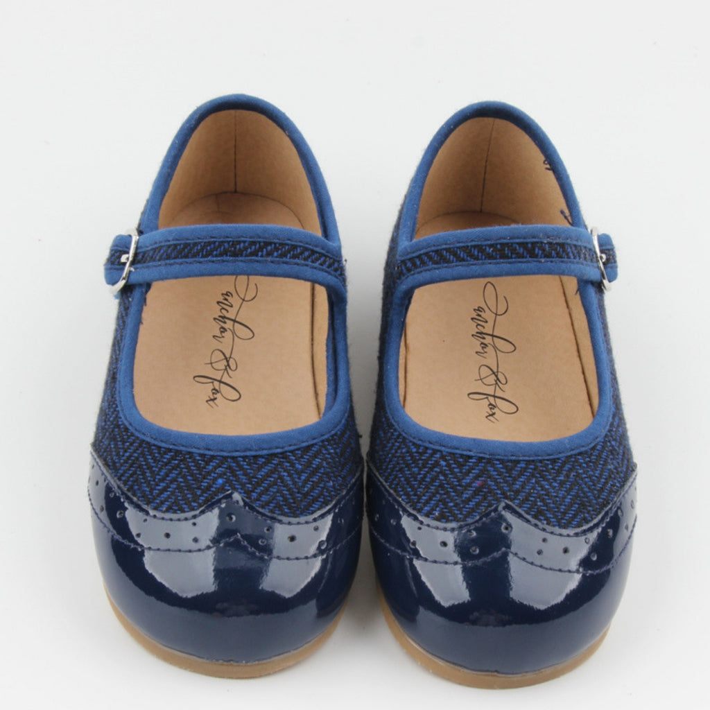 anchor & fox navy mary jane shoes for girls