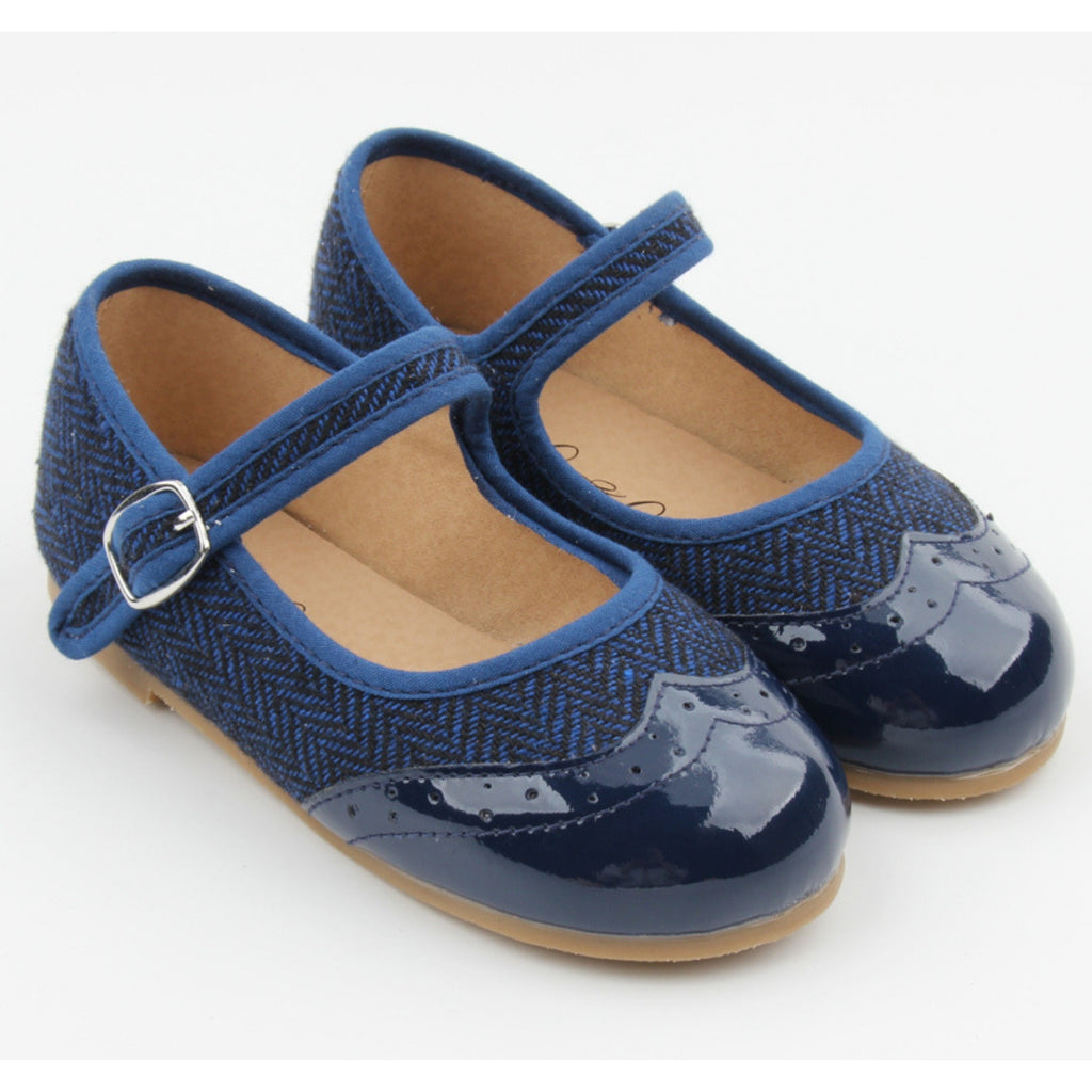navy girls mary jane shoes by anchor & fox